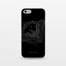 iPhone 5/5E/5s  NORTHERN RAVEN ( Path to the North ) by RAIDHO (raven,north,stars,ursa major,night,knotwork)