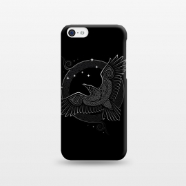 iPhone 5C  NORTHERN RAVEN ( Path to the North ) by RAIDHO (raven,north,stars,ursa major,night,knotwork)