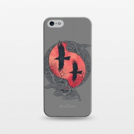 iPhone 5/5E/5s  HUGIN & MUNIN by RAIDHO (odin's ravens,odin,ravens,hugin and munin,nordic mythology,vikings,knotwork)