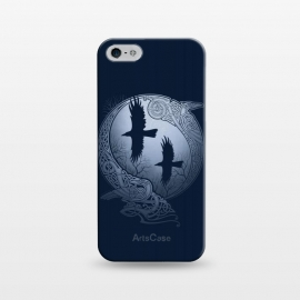 iPhone 5/5E/5s  ODIN'S RAVENS by RAIDHO (ODIN,ODIN'S RAVENS,HUGIN AND MUNIN,MOON,NORDIC MYTHOLOGY,VIKINGS,KNOTWORK,RAVENS)