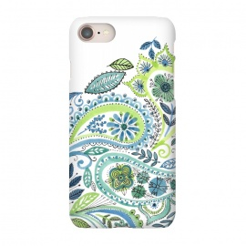 iPhone 8/7  Watercolour Paisley by Laura Grant