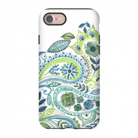 iPhone 7  Watercolour Paisley by Laura Grant (Paisley,Painted,watercolour,pretty)