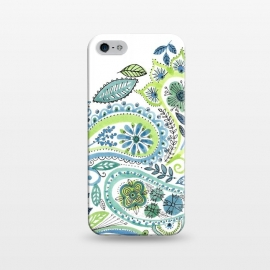 iPhone 5/5E/5s  Watercolour Paisley by Laura Grant (Paisley,Painted,watercolour,pretty)