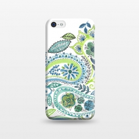 iPhone 5C  Watercolour Paisley by Laura Grant (Paisley,Painted,watercolour,pretty)
