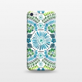iPhone 5C  Watercolour Floral by Laura Grant (watercolour,painted,floral,pretty,pattern)