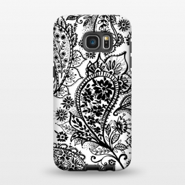 Galaxy S7 EDGE  Ink paisley by Laura Grant