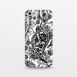 iPhone 5/5E/5s  Ink paisley by  (paisley,blackandwhite,pattern)