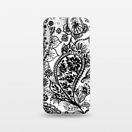 iPhone 5C  Ink paisley by Laura Grant