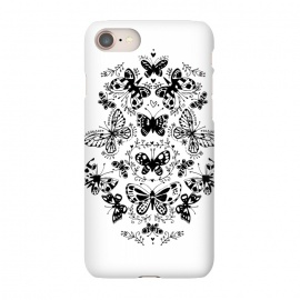 iPhone 8/7 SlimFit Ink butterfly by Laura Grant (butterfly,floral,pattern,pretty,black and white)