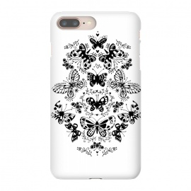 iPhone 8/7 plus  Ink butterfly by  (butterfly,floral,pattern,pretty,black and white)