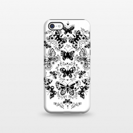 iPhone 5C  Ink butterfly by Laura Grant