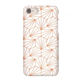 iPhone 7 SlimFit Rose Gold & White  by Uma Prabhakar Gokhale (graphic, other, pattern, abstract, geometric, geometrical, golden, faux gold, rose gold, exotic, glitter)