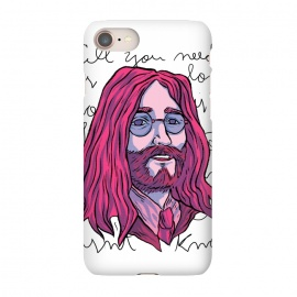 iPhone 7 SlimFit LENNON by Ilustrata (beatles , the-beatles , thebeatles , john-lennon , paul-mccartney , ringo-starr , george-harrison , john-paul-george-and-ringo , imagine , fab-four , lennon , harrison , abbey-road , starr)