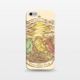 iPhone 5/5E/5s  Three Little Birds by Ilustrata (bob-marley , jamaica , marley , reggae-music , reggae-colors , snoop-dog , reggae-flag , cool-reggae , marijuana-leaves)