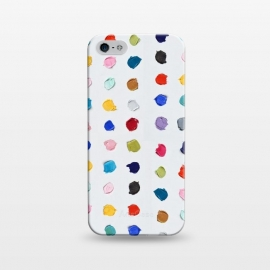 iPhone 5/5E/5s  Polka Daubs by Ann Marie Coolick (polkadots,polka dots,circles,colorful,pop art,multicolor,confetti)