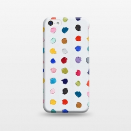 iPhone 5C  Polka Daubs by Ann Marie Coolick (polkadots,polka dots,circles,colorful,pop art,multicolor,confetti)