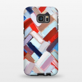 Galaxy S7 EDGE  Colorful Chevron by Ann Marie Coolick