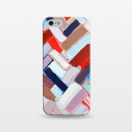 iPhone 5/5E/5s  Colorful Chevron by Ann Marie Coolick (abstract painting,modern,colorful,chevron,red,purple,neutral,pop art)