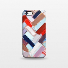 iPhone 5C  Colorful Chevron by Ann Marie Coolick