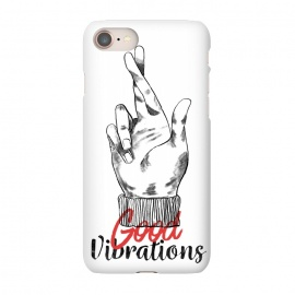 iPhone 7 SlimFit Good Vibrations by Ilustrata (good-vibrations , good , like , hands , lettering , phrase , words , manga , comics , good-day , relax)
