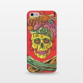 iPhone 5/5E/5s  Carmen Death by Ilustrata (music , musical , rock , pop , song , culture , carmen-miranda , skull , death , skeleton , skulls , dead , halloween , dark)