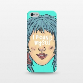 iPhone 5/5E/5s  I found myself by  (lettering , words , phrase , message , hyde , coolest , word , typo , blue , found , myself , handlettering)