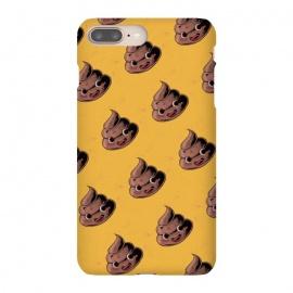 iPhone 8/7 plus  Kawaii Poop by  (poop,kawai,kawaii,yellow,funy,funny,vintage,pattern,hand draw,cute,cool)