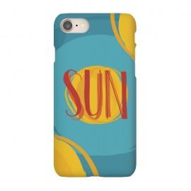 iPhone 8/7  Hot Sun on Blue Sky by Dellán (sun,summer,spring,hot,beach,sea,party,warm,fresh,typographic,text,hipster,trendy,cheerful,colorful,good vibes,paint,oil paint,brush,paint brush,art,artistic)