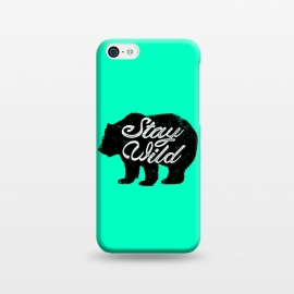 iPhone 5C  Stay Wild by Mitxel Gonzalez (wild,wildness,bear,forest,inspiring,savage,grizzly,mountains)