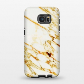 Galaxy S7 EDGE  Gold Marble by Uma Prabhakar Gokhale