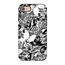 iPhone 8/7  Monochrome by Uma Prabhakar Gokhale (ink pen, colored pencil, pattern, vector, floral, nature, black and white, exotic, free hand)
