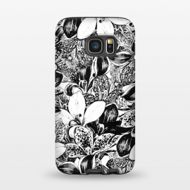 Galaxy S7  Monochrome by Uma Prabhakar Gokhale (ink pen, colored pencil, pattern, vector, floral, nature, black and white, exotic, free hand)