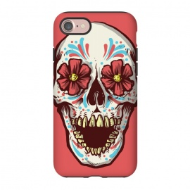 iPhone 7 StrongFit Los Muertos by Lucas Dutra (dia de los muertos,muertos,mexico,calavera,calaca,flower,tequila)