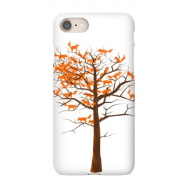 iPhone 7 SlimFit Blazing Fox Tree by 38 Sunsets (fox,foxes,tree,trees,nature,wild,outdoor,animal,animals,orange,brown,forest,optical illusion,autumn)