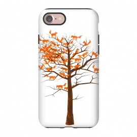 iPhone 7 StrongFit Blazing Fox Tree by 38 Sunsets (fox,foxes,tree,trees,nature,wild,outdoor,animal,animals,orange,brown,forest,optical illusion,autumn)
