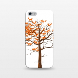Blazing Fox Tree by 38 Sunsets (fox,foxes,tree,trees,nature,wild,outdoor,animal,animals,orange,brown,forest,optical illusion,autumn)