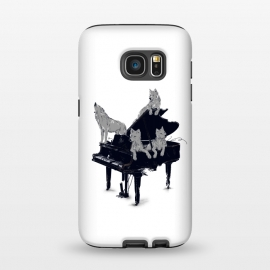 Galaxy S7 StrongFit Young apprentice, Wolfgang by 38 Sunsets (wolf,wolves,young,music,classic music,piano,concert,destruction,mozart,wolfgang,gang,howling wolf,forever young,dog,dogs)