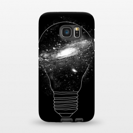 Galaxy S7 StrongFit Sparkle by Vó Maria (sparkle,light bulb,idea,ideas,line,linework,space,galaxy,star,astronaut,moon,science,particle,earth)