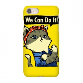 iPhone 7 SlimFit We Can Do It! Purrrsist! by Vó Maria (cats,cat,vintage,poster,propaganda,war,world,animal,cute,feminist,feminism,girl,power)