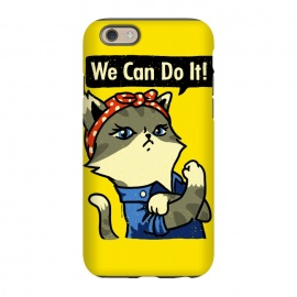 iPhone 6/6s  We Can Do It! Purrrsist! by Vó Maria