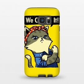 Galaxy S7  We Can Do It! Purrrsist! by Vó Maria