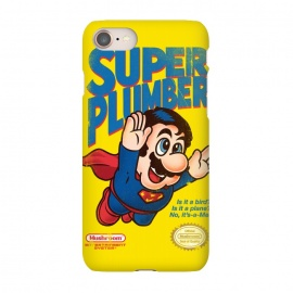 iPhone 7 SlimFit Super Plumber by Vó Maria (super mario,video game,video,game,games,superman,hero,super hero,comics,nintendo,tv,television,pop culture)