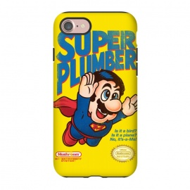 iPhone 7 StrongFit Super Plumber by Vó Maria (super mario,video game,video,game,games,superman,hero,super hero,comics,nintendo,tv,television,pop culture)