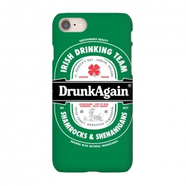 iPhone 7 SlimFit DrunkAgain Beer Label by Vó Maria (beer,label,heineken,drunk,again,binge,party,shenanigans,shamrock,irish,st patrick,ireland,music)