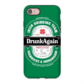 iPhone 7 StrongFit DrunkAgain Beer Label by Vó Maria (beer,label,heineken,drunk,again,binge,party,shenanigans,shamrock,irish,st patrick,ireland,music)
