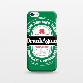 iPhone 5C  DrunkAgain Beer Label by Vó Maria