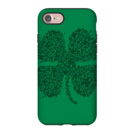 iPhone 7 StrongFit Good Luck! by Vó Maria (four,leaf,clover,shamrock,shenanigans,ireland,irish,st patrick,lucky,gold,lucky charm,leprechaun,plant,tree,flower,girl)