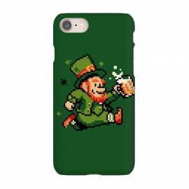 iPhone 7 SlimFit Leprechaun by Vó Maria (leprechaun,pixel,art,computer,video,game,video game,mario,super,nintendo,nostalgia,irish,shenanigans,shamrock)