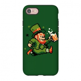 iPhone 7 StrongFit Leprechaun by Vó Maria (leprechaun,pixel,art,computer,video,game,video game,mario,super,nintendo,nostalgia,irish,shenanigans,shamrock)