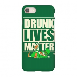 iPhone 7 SlimFit Drunk Lives Matter by Vó Maria (drunk,lives,matter,leprechaun,shenanigans,shamrock,irish,ireland,beer, label)